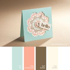 Stampin' Up! Color Combo: Soft Sky, Crisp Cantaloupe, Soft Suede, Very Vanilla #stampinupcolorcombos