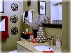 Holiday Decor -- Christmas Bathroom