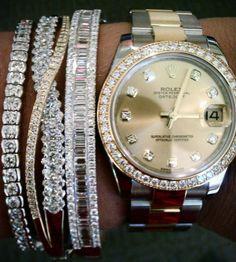 Rolex and diamonds