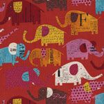 Kokka Nancy Wolff Circus Elephants Red [IMPORT-70100-103-B] - $19.95 : Pink Chalk Fabrics is your online source for modern quilting cottons and sewing patterns., Cloth, Pattern + Tool for Modern Sewists