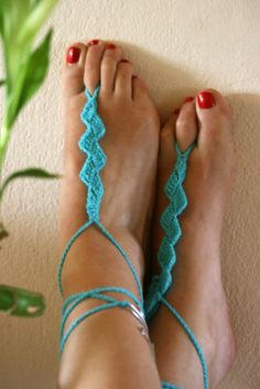 WIRE BAREFOOT SANDALS summer crochet sandals♥♥♥♥♥