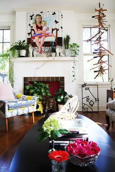 Mantels & Fireplaces via Apartment Therapy.