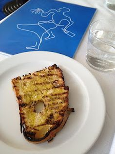chargrilled toast and olive oil at The River Cafe