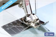 """Patchwork uses a ¼"""" seam allowance, which is different than garment sewing. Many quilters have their own techniques for identifying a ¼"""" seam allowance, and you'll see Liza's preferred method here."""