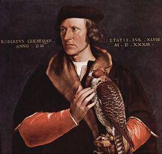 Hans Holbein , Robertus Cheseman(full portrait)