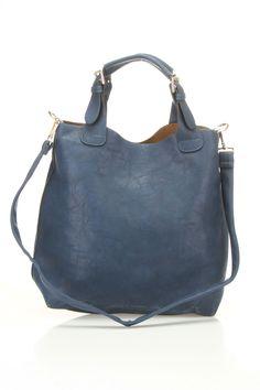 Shoulder Satchel Bag In Blue