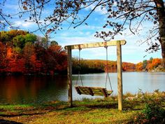 Porch Swing in Autumn