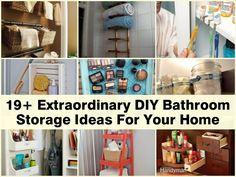19+ Extraordinary DIY Bathroom Storage Ideas For Your Home diy bathroom, bathroom storage, bathrooms, storag idea, homes, storage ideas, extraordinari diy, diybathroom