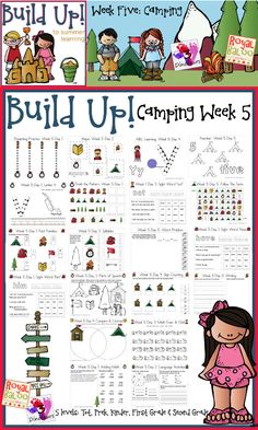 Build Up Summer Learning: Week 5 Camping:  Levels: Tot, Prek, Kinder, First Grade  Second - Sight Words, ABCs, Numbers, Shapes, Word Families, Language  Math - 3Dinosaurs.com  RoyalBaloo.com