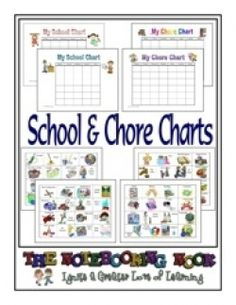 FREE School and Chore Charts - Frugal Homeschool Family