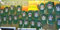 Desert Habitat writing/reading activity & elf owl - saguaro cactus craftivity