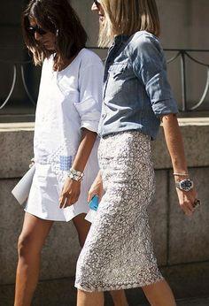 skirt and chambray