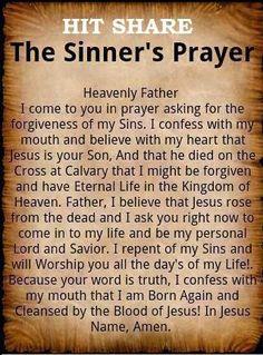 Salvation Prayer