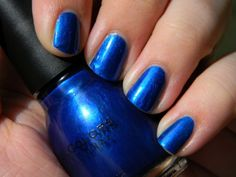 Sinful Colors nail polish in Midnight Blue...