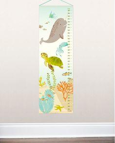 GROWTH CHART  Ocean Friends  nursery art for by SeaUrchinStudio, $45.00