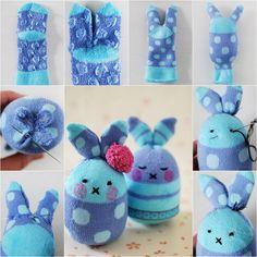 DIY Easy Easter Egg Sock Bunny