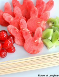 healthi bodi, food idea, bunni fruit, season easter, holiday idea