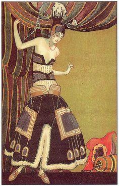 M. Montedoro, Art Deco postcard 4, 1920s