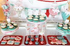 Sugar and spice makes this party of so nice! #twins #desserttable #babyshower