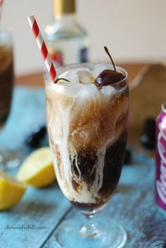 This Cherry Coke recipe gets tasty with a little vanilla, a little lemon and just a touch of cream!