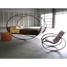 (60) Fab.com | Mood Rocking Bed Queen Steel