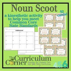 Noun Scoot for Intermediate Grades Free from The Curriculum Corner