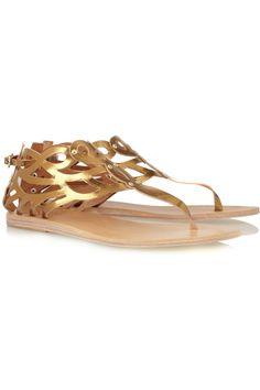 Ancient Greek Sandals|Medea metallic leather sandals|NET-A-PORTER.COM