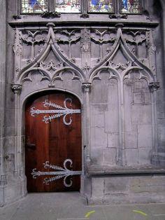 Gothic doorway, Bern Cathedral, Switzerland