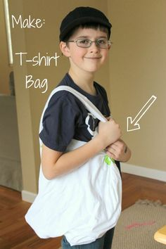 Sewing a T-shirt bag with Kids