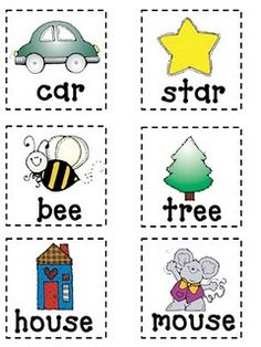 cute rhyming memory game!