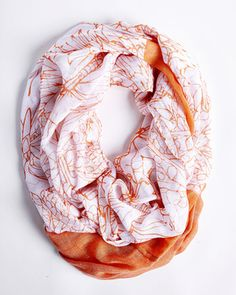 Fabulous ORANGE butterfly infinity scarf from Charming Charlies $15