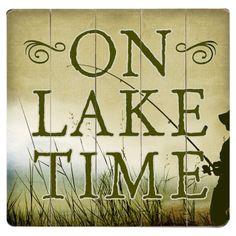 On Lake Time Wall Decor.