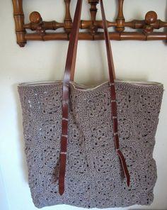Crochet bag. - I love the handles