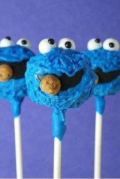 cookie monster cake pops, cooki monster, googly eyes, sesame street cake pops, birthday cakepops, cookie monster cakepops, sesam street, monster cakes, treat
