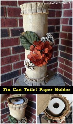 Tin Can Toilet Paper Holder - iSaveA2Z.com