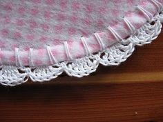 Crochet pattern for receiving blanket edging