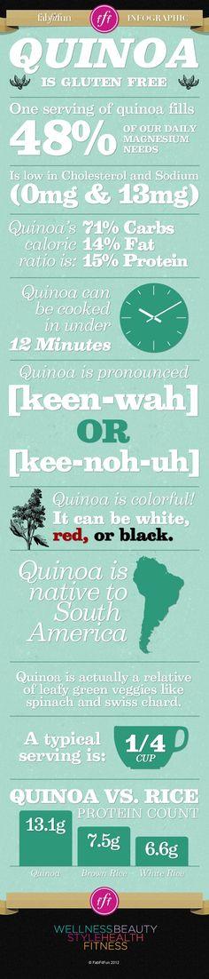 Health Benefits of #Quinoa   #Infographic
