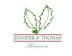 Christmas wedding monogram/motif idea.
