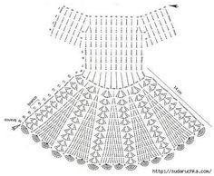 Nice dress, pretty pattern. Add a couple row AND a beading row at top to ribbon through.