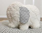 White, Ivory Soft and Fluffy Stuffed Elephant
