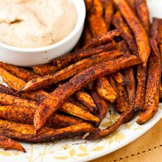 Baked Sweet Potato Fries with Chipotle Ranch look effing delicious!