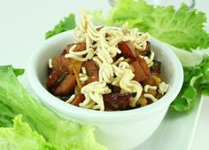 Lettuce Wraps with Johnsonville Apple Chicken Sausage