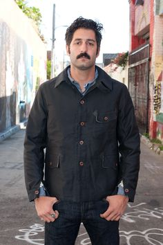 MF Le Paletot Jacket - Black Moleskin - $750.00 : Self Edge : Japanese Selvedge Denim
