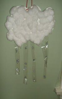 clouds, cotton ball, balls, ball cloud, preschool craft, weather lessons, preschool idea, preschool season, rain