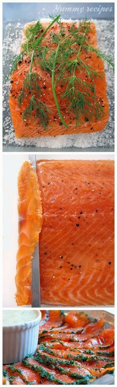 Salmon Gravlax and Mustard Dill Sauce