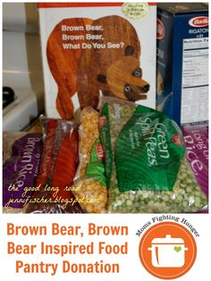 Brown Bear, Brown Bear Inspired Food Pantry Donation from The Good Long Road