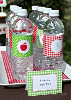Apple Collection: Printable Party Package | Paige Simple Studio #printable #party #red #green #apple #polkadot #gingham #paigesimple