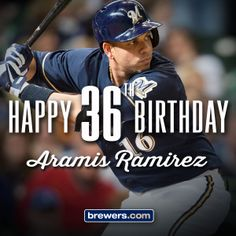 Happy birthday, Aramis! Repin to wish him a happy birthday, then give him a present by helping send him to the All-Star Game. Vote at brewers.com/allstar. #Brewers #VoteAramis