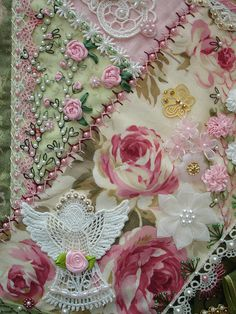 Crazy Patch Seam Treatments by Happy 2 Sew, via Flickr