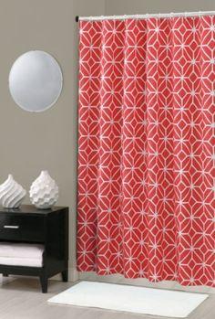 Coral Trellis Shower Curtain TRINATURK COM